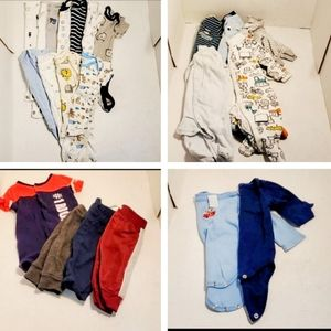 Carters Baby Boy Clothes Onsies Sleepers 3 Months